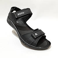 Мужские кожаные сандалии в стиле Ecco отличного качества