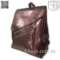 Рюкзак женский, сумка рюкзак женская для девочки красивый из кожзама pearlescent brown S583-3#