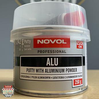 Шпатлёвка с алюминиевым наполнителем Novol ALU, 250 г