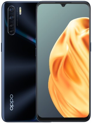 "Смартфон Oppo A91 8/128GB Dual Sim Lightening Black; 6.4"" (2400х1080) AMOLED / MediaTek Helio P70 / ОЗУ 8 ГБ / 128 ГБ встроенной + microSD до 256 ГБ /"