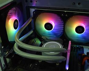 Вентилятор ID-Cooling XF-12025-ARGB-TRIO (3pcs Pack), 120х120х25мм, 4-pin PWM, чорний c білим, фото 3