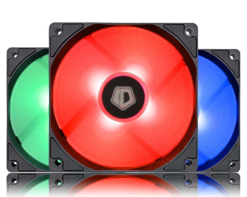 Вентилятор ID-Cooling XF-12025-RGB-TRIO (3pcs Pack), 120х120х25мм, 4-pin PWM, чорний c білим