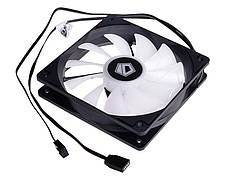 Вентилятор ID-Cooling XF-12025-RGB-TRIO (3pcs Pack), 120х120х25мм, 4-pin PWM, чорний c білим, фото 3