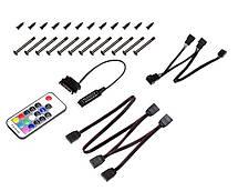 Вентилятор ID-Cooling XF-12025-RGB-TRIO (3pcs Pack), 120х120х25мм, 4-pin PWM, чорний c білим, фото 2