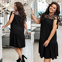 Женский сарафан летнее платье рубашка короткий рукав размер: 48-50,52-54,56-58,60-62