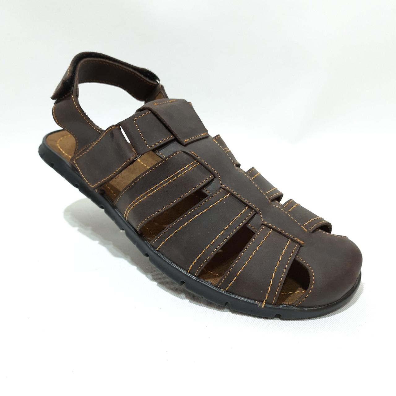 Мужские кожаные босоножки сандали  (Больших размеров) р. 46 отличного качества