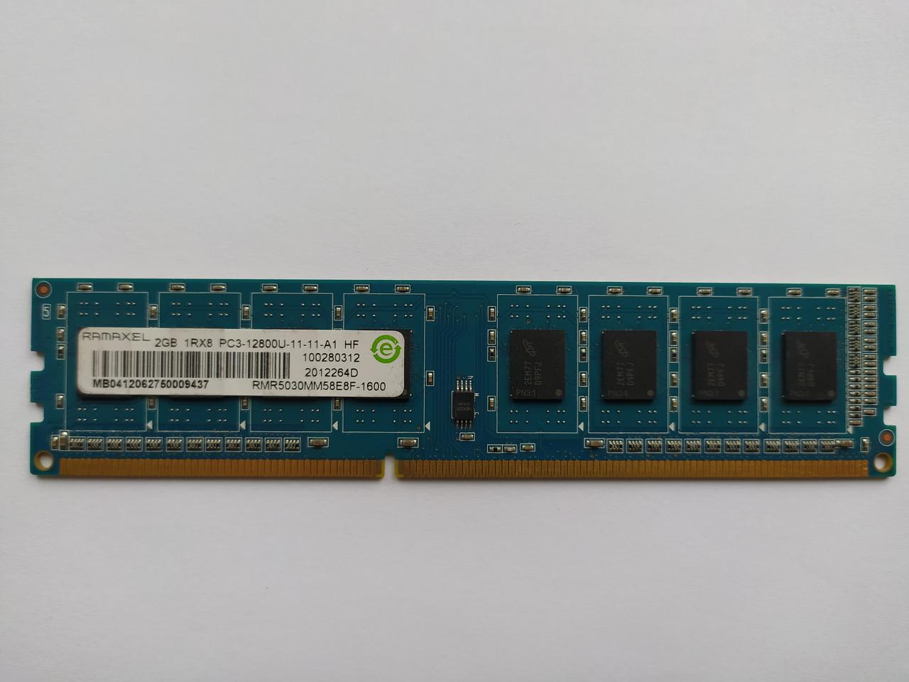 Оперативная память Ramaxel DDR3 2Gb 1600MHz PC3-12800U (RMR5030MM58E8F-1600) Б/У