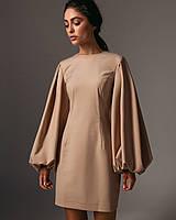 Платье с объемными рукавами,тренд,42,44,3 цвета
