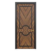 Межкомнатная дверь Casa Verdi Liga 2 из ольхи коричневая с черной рамой