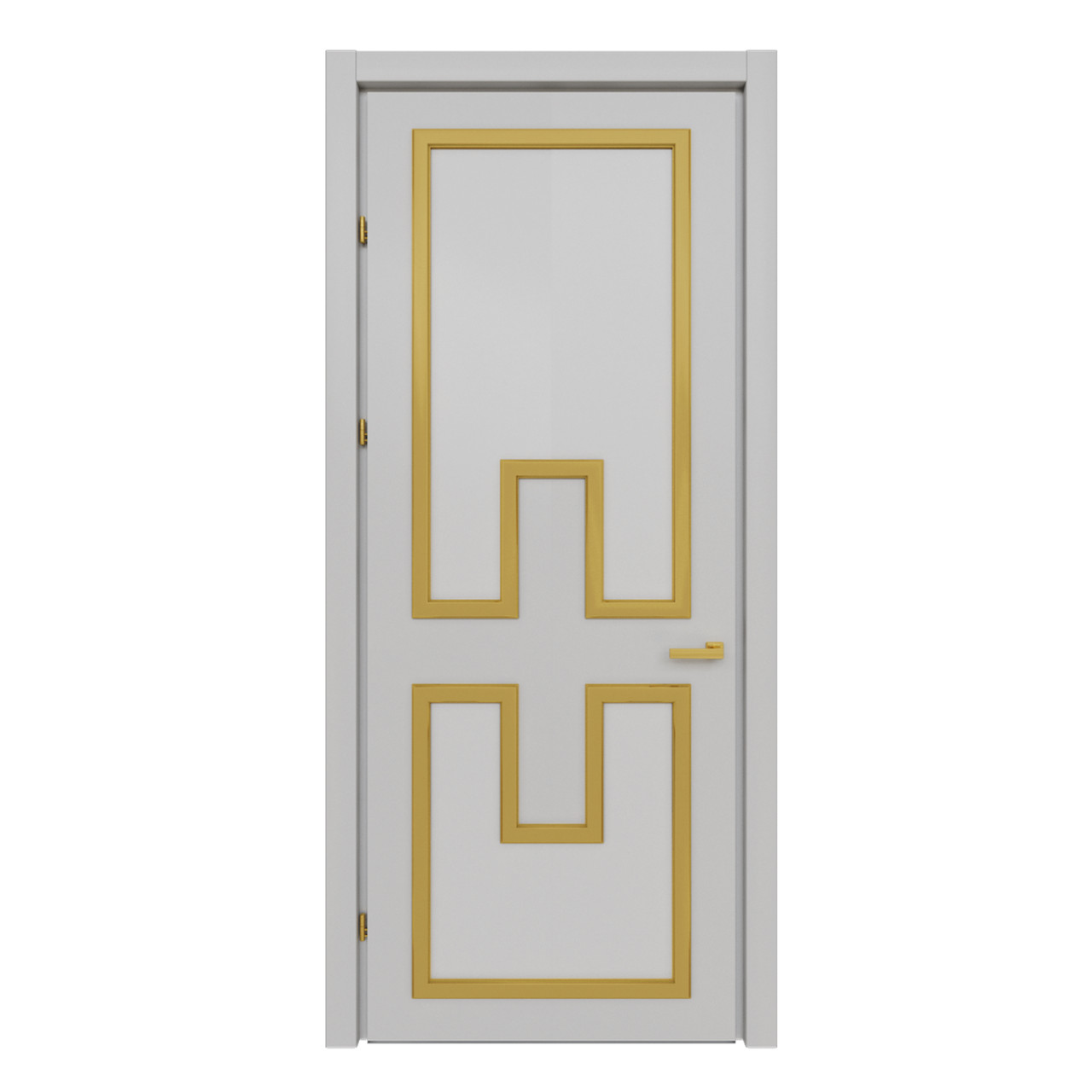 Межкомнатная дверь Casa Verdi Liga 5 из ольхи серая с желтыми вставками