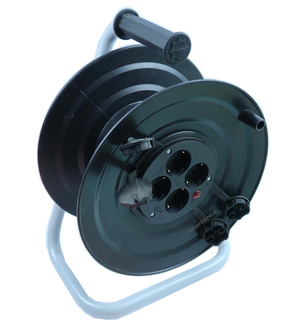 Катушка под 50м кабеля с розетками 4 шт 16А, IP44