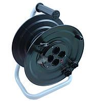 Котушка під 50м кабелю з розетками 4 шт 16А, IP44, фото 1