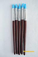 Набор силиконовых кистей для лепки, растушевки и моделирования, 5 шт., d-0,8 см