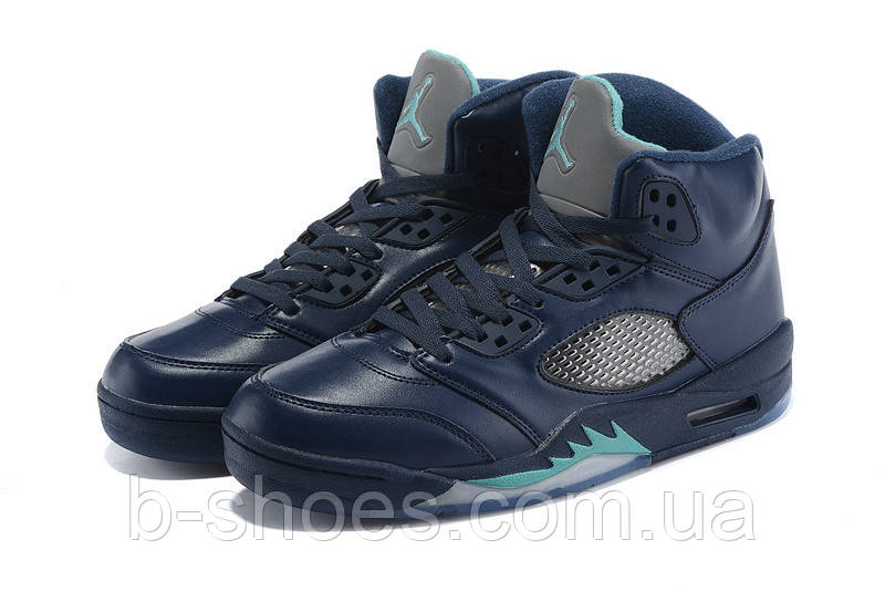 Мужские повседневные  кроссовки Air Jordan Retro 5 Blue