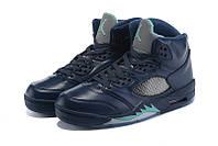 Мужские повседневные  кроссовки Air Jordan Retro 5 Blue, фото 1