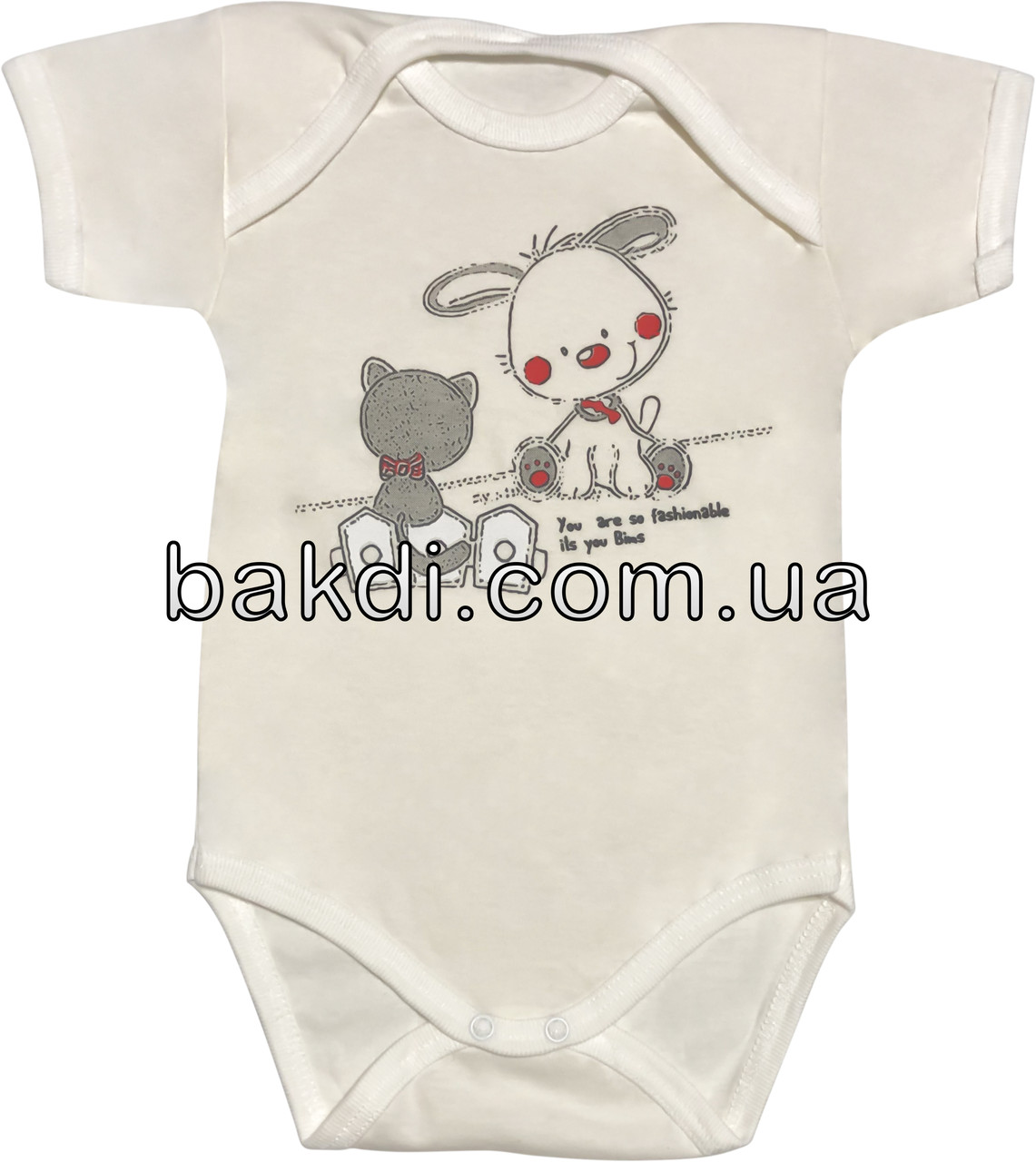 Дитяче літнє тонке боді зростання 74 6-9 міс бавовна кулір молочний бодік на хлопчика дівчинку з коротким