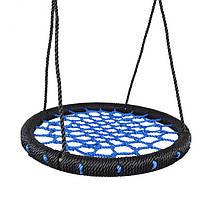"""Качеля круглая подвесная """"Гнездо"""" 60 см Blue"""