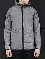 Куртка мужская с капюшоном летняя Staff soft shell light gray