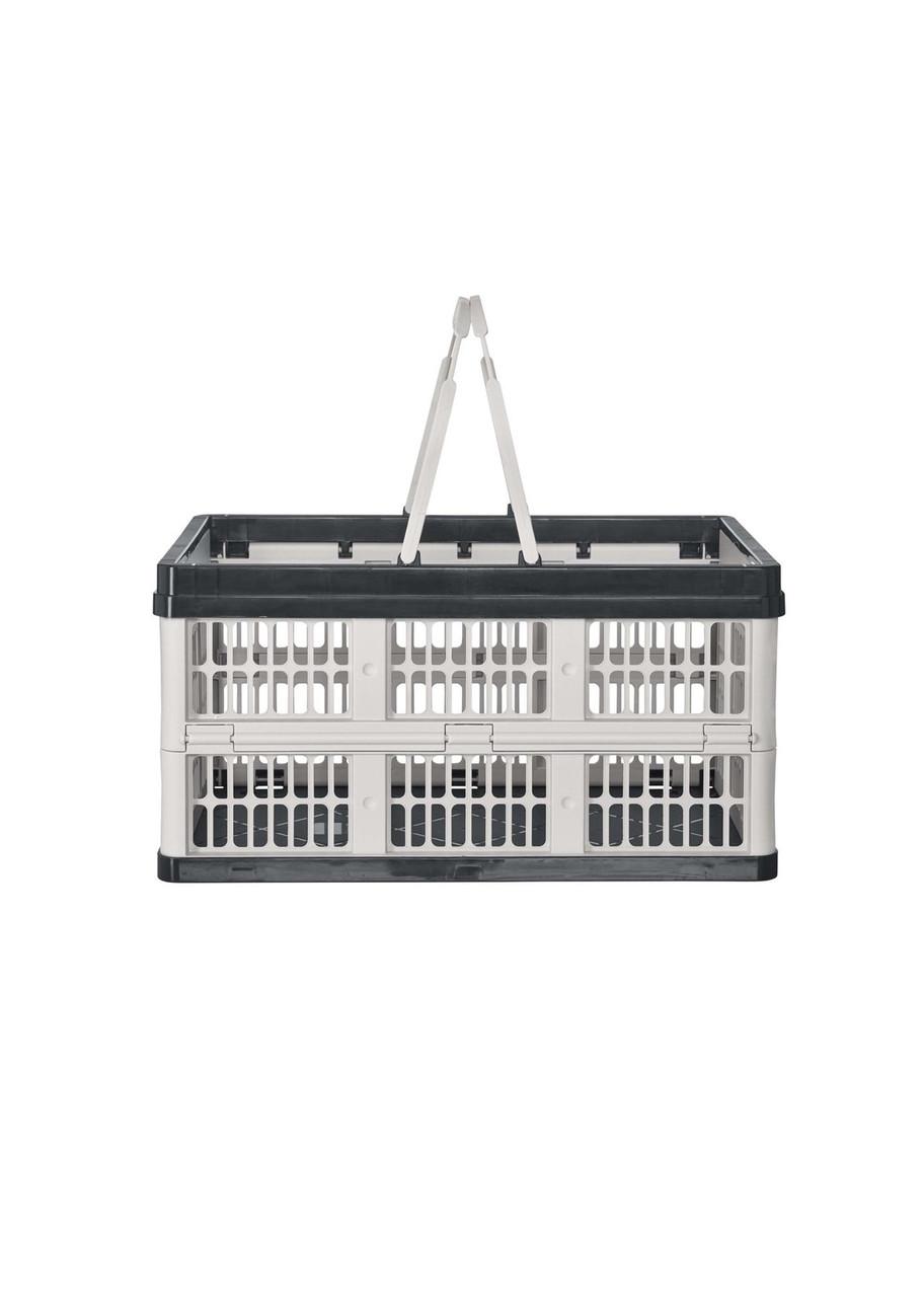 Ящик складной с ручками CASSETTI 39х25,5х21см Белый, Черный