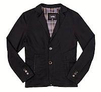 Мужской классический пиджак. Чоловічий класичний піджак. Коттоновый. Котоновий. Чёрный. Чорний. Темный. Темний