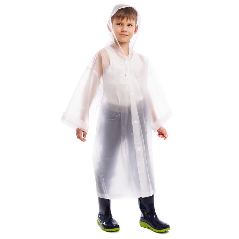 Дощовик для дитини на кнопках багаторазовий прозорий C-1010