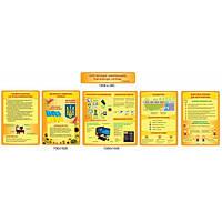 Комплект стендов для кабинета информатики (желто-оранжевый цвет)