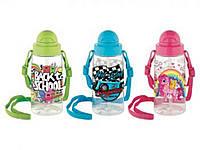 Пляшка з трубочкою 500мл Міго (мікс) 900061 ТМRENGA