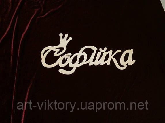 Имя Софійка (48 х 22 см), декор, фото 2