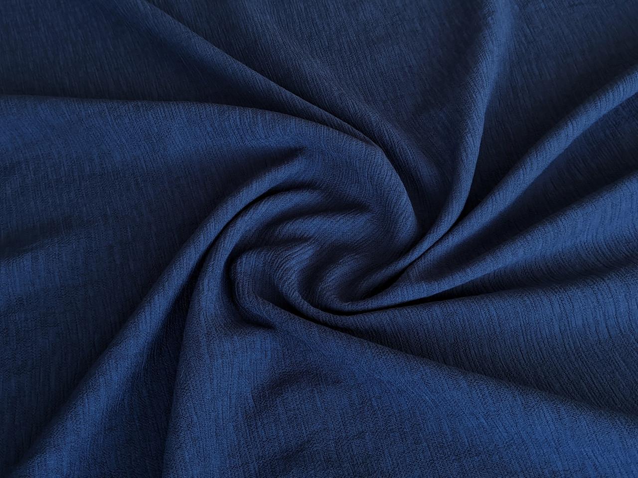 Ткань Киви креп, темно-синий