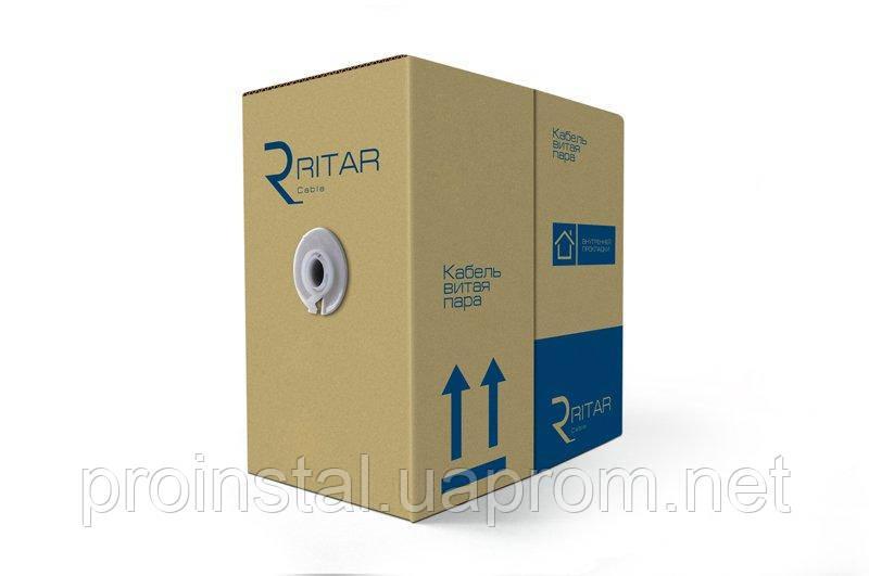Кабель КВПЭ FTP (4*2*0.51) 4p 24 AWG, Ritar, (CCA), экран для внутр. работ, 305м, White, Corton BOX (350x350x420), Q2