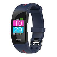 Умный фитнес браслет Jiks Fit с тонометром и измерением ЭКГ (Сине-красный), фото 1