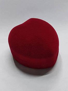 Футляр для кольца Сердце Б красное