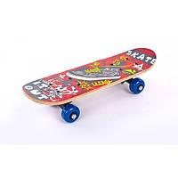 Скейтборд Mini в сборе (роликовая доска) (р-р деки 43х13х1,2см)