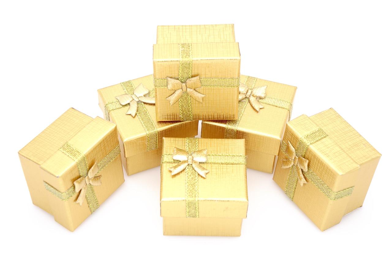 Подарочные коробки оптом №46 Золотистый