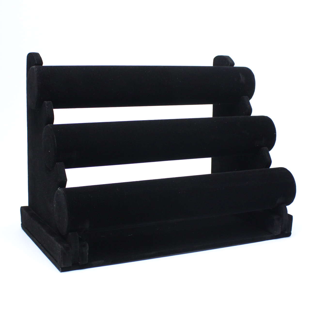 Подставка для браслетов 3-х рядная черная