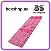 Подарочная коробочка под браслет или цепочку Сердечки с бантом фуксия 20,5*4,5*2 см, фото 2