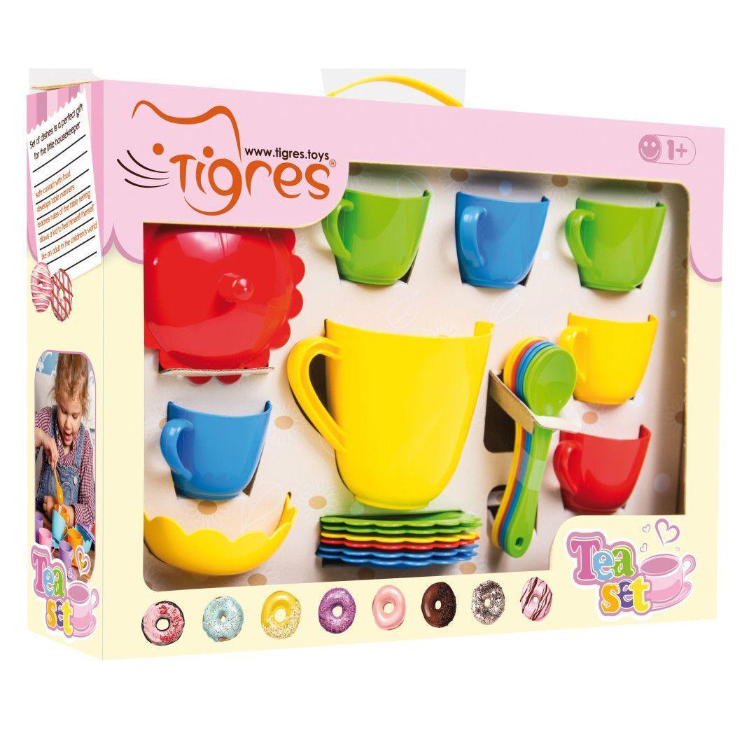 Игрушечный чайный набор Ромашка  28 предметов