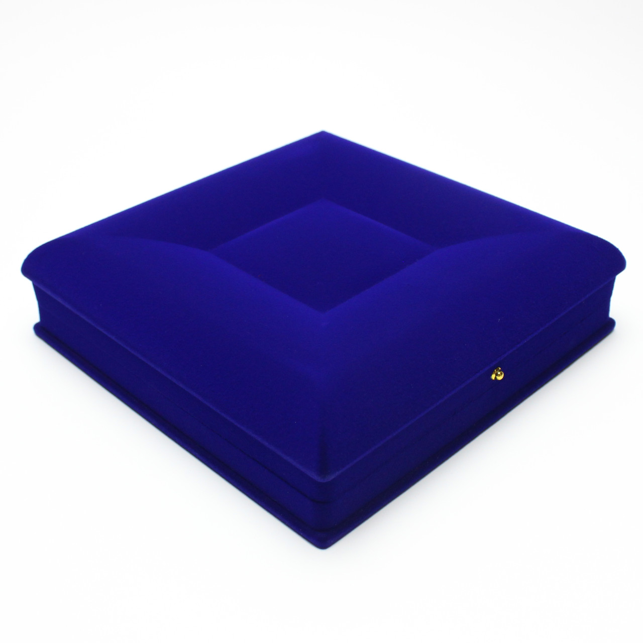 Шкатулка для набора бархатная синяя