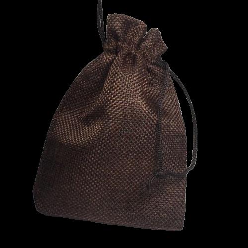 Мешочки коричневые из льна
