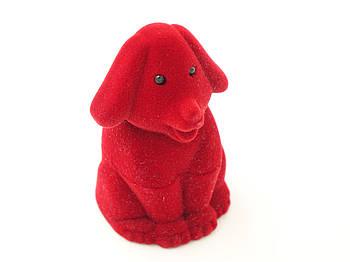 Футляр для кольца Собака красная