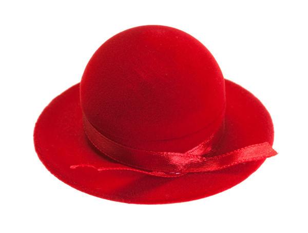 Футляр под кольцо Шляпа красная
