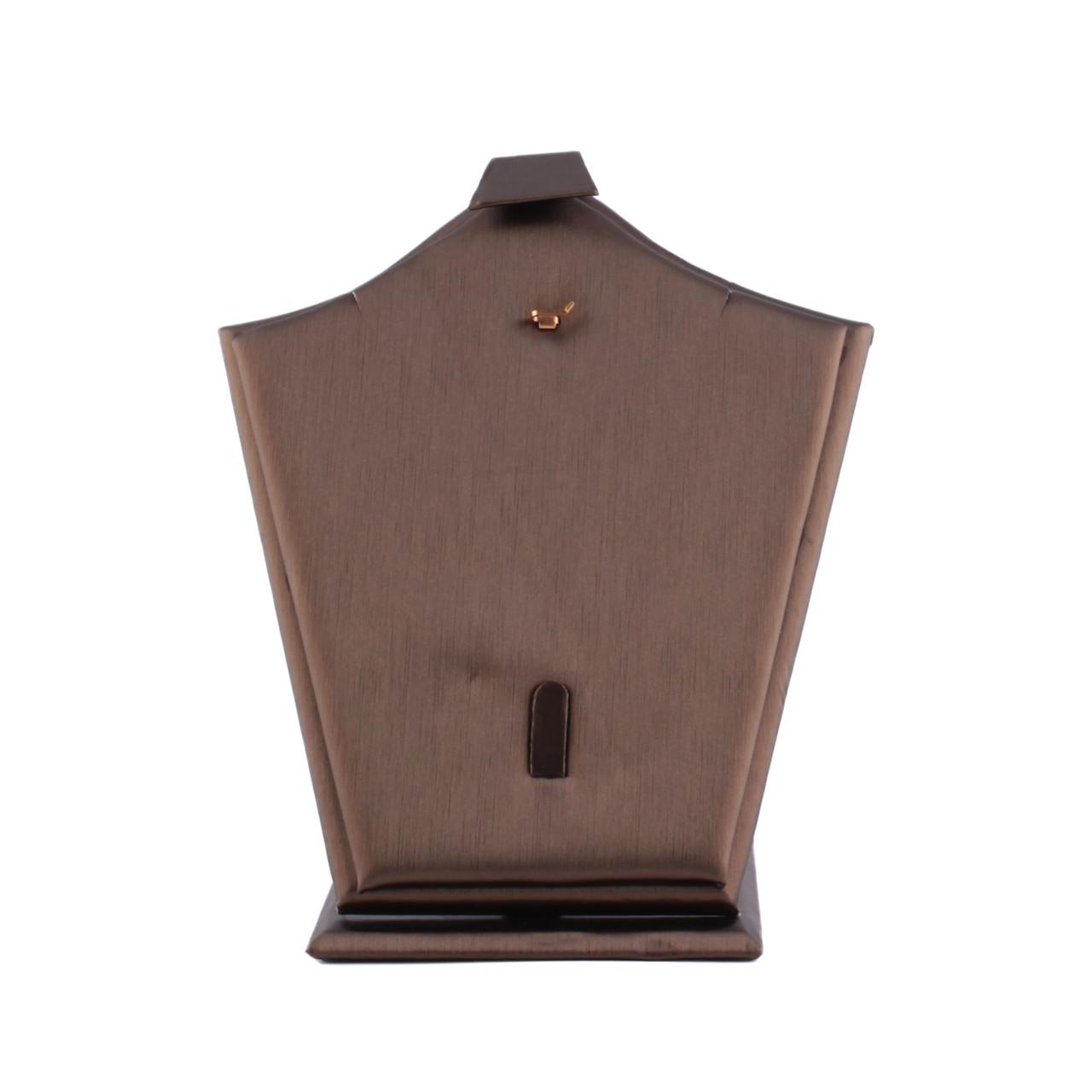 Подставка для набора экокожа коричневая