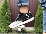 Мужские кроссовки Adidas Nite Jogger Boost 3M,черные с белым, фото 2