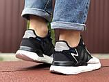 Мужские кроссовки Adidas Nite Jogger Boost 3M,черные с белым, фото 3