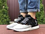 Мужские кроссовки Adidas Nite Jogger Boost 3M,черные с белым, фото 4