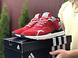 Мужские кроссовки Adidas Nite Jogger Boost 3M,красные, фото 3