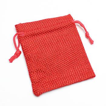 Мешочки красные лён 70*90 мм