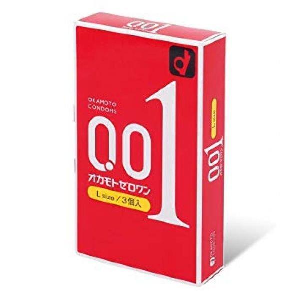 Презервативы ультратонкие Okamoto Zero One L 0.01 - 3 шт.