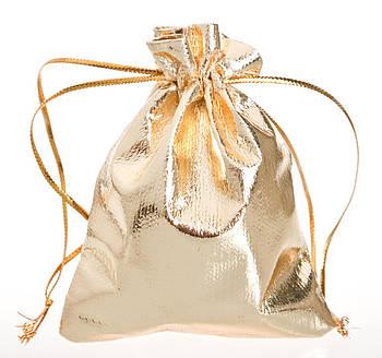 Мешочек 7 на 9 Органза Золото Boxshop gold-bag-7/9