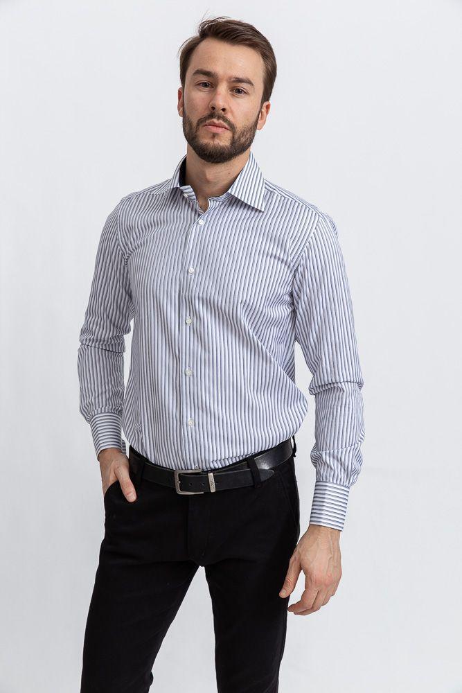 Рубашка 113RPia64 цвет Бело-серый